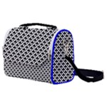 Black and white Triangles pattern, geometric Satchel Shoulder Bag