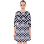 Black and white Triangles pattern, geometric Smock Dress