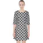 Black and white Triangles pattern, geometric Pocket Dress