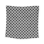 Black and white Triangles pattern, geometric Square Tapestry (Small)