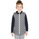 Black and white Triangles pattern, geometric Kids  Hooded Puffer Vest