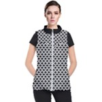 Black and white Triangles pattern, geometric Women s Puffer Vest