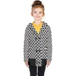 Black and white Triangles pattern, geometric Kids  Double Breasted Button Coat