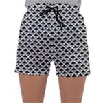 Black and white Triangles pattern, geometric Sleepwear Shorts