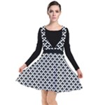 Black and white Triangles pattern, geometric Plunge Pinafore Dress