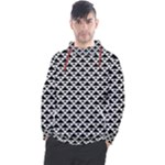 Black and white Triangles pattern, geometric Men s Pullover Hoodie