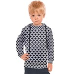 Black and white Triangles pattern, geometric Kids  Hooded Pullover
