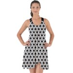 Black and white Triangles pattern, geometric Show Some Back Chiffon Dress