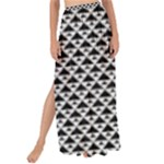Black and white Triangles pattern, geometric Maxi Chiffon Tie-Up Sarong