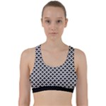 Black and white Triangles pattern, geometric Back Weave Sports Bra