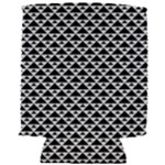 Black and white Triangles pattern, geometric Can Holder