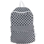 Black and white Triangles pattern, geometric Foldable Lightweight Backpack