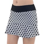 Black and white Triangles pattern, geometric Tennis Skorts