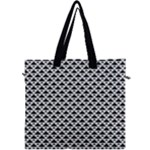 Black and white Triangles pattern, geometric Canvas Travel Bag