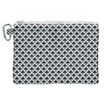 Black and white Triangles pattern, geometric Canvas Cosmetic Bag (XL)