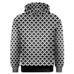 Black and white Triangles pattern, geometric Men s Overhead Hoodie