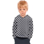 Black and white Triangles pattern, geometric Kids  Overhead Hoodie