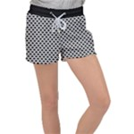 Black and white Triangles pattern, geometric Velour Lounge Shorts