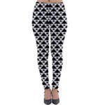 Black and white Triangles pattern, geometric Lightweight Velour Leggings
