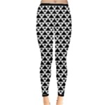 Black and white Triangles pattern, geometric Inside Out Leggings