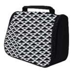 Black and white Triangles pattern, geometric Full Print Travel Pouch (Small)