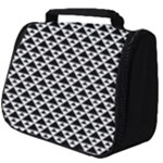 Black and white Triangles pattern, geometric Full Print Travel Pouch (Big)