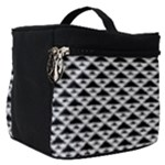 Black and white Triangles pattern, geometric Make Up Travel Bag (Small)