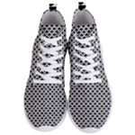 Black and white Triangles pattern, geometric Men s Lightweight High Top Sneakers