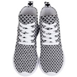 Black and white Triangles pattern, geometric Women s Lightweight High Top Sneakers