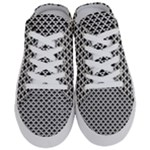 Black and white Triangles pattern, geometric Half Slippers