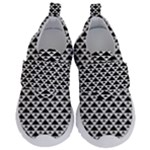 Black and white Triangles pattern, geometric Kids  Velcro No Lace Shoes