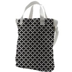 Black and white Triangles pattern, geometric Canvas Messenger Bag