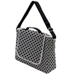 Black and white Triangles pattern, geometric Box Up Messenger Bag