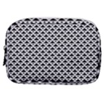 Black and white Triangles pattern, geometric Make Up Pouch (Small)
