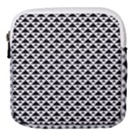 Black and white Triangles pattern, geometric Mini Square Pouch
