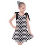 Black and white Triangles pattern, geometric Kids  Tie Up Tunic Dress