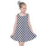 Black and white Triangles pattern, geometric Kids  Summer Dress