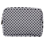 Black and white Triangles pattern, geometric Make Up Pouch (Medium)
