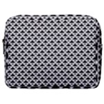 Black and white Triangles pattern, geometric Make Up Pouch (Large)