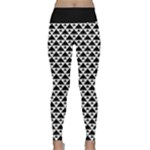 Black and white Triangles pattern, geometric Lightweight Velour Classic Yoga Leggings