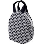 Black and white Triangles pattern, geometric Travel Backpacks
