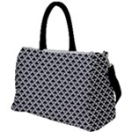 Black and white Triangles pattern, geometric Duffel Travel Bag