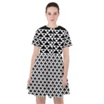 Black and white Triangles pattern, geometric Sailor Dress