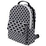 Black and white Triangles pattern, geometric Flap Pocket Backpack (Small)
