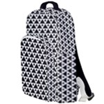 Black and white Triangles pattern, geometric Double Compartment Backpack