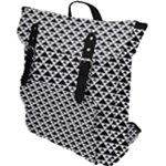 Black and white Triangles pattern, geometric Buckle Up Backpack