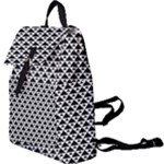 Black and white Triangles pattern, geometric Buckle Everyday Backpack