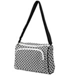 Black and white Triangles pattern, geometric Front Pocket Crossbody Bag