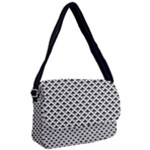 Black and white Triangles pattern, geometric Courier Bag