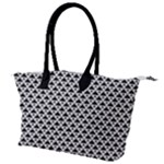 Black and white Triangles pattern, geometric Canvas Shoulder Bag